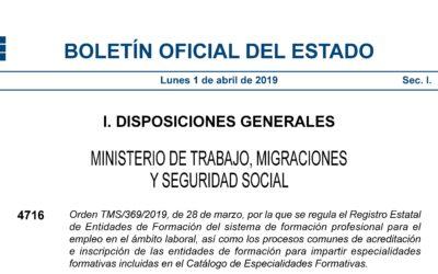 OBLIGACION A TENER DOCENCIA DE LA FORMACIÓN PROFESIONAL PARA EL EMPLEO