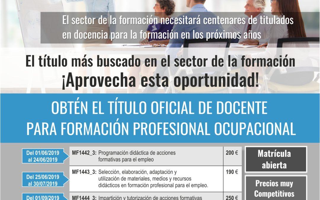 3 EDICIÓN TELEFORMACIÓN DOCENCIA DE LA FORMACION PROFESIONAL PARA EL EMPLEO