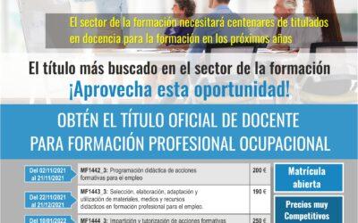 DOCENCIA DE LA FORMACIÓN PROFESIONAL PARA EL EMPLEO. SÉPTIMA EDICIÓN